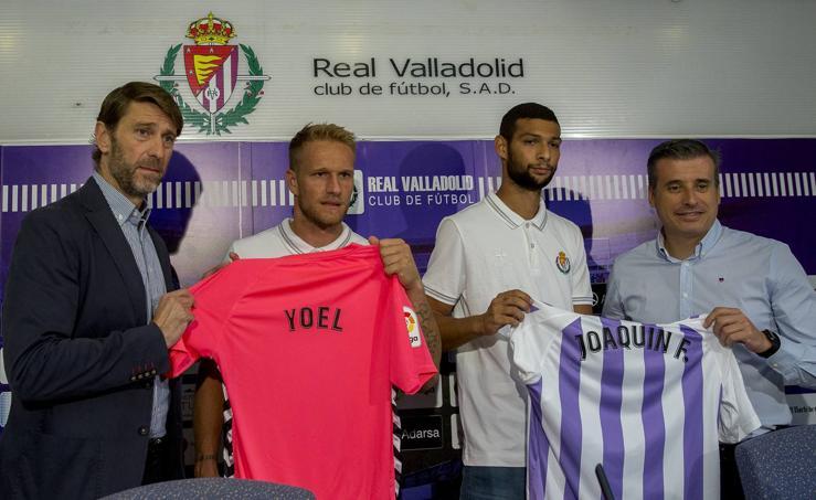 El Real Valladolid presenta a Joaquín y Yoel