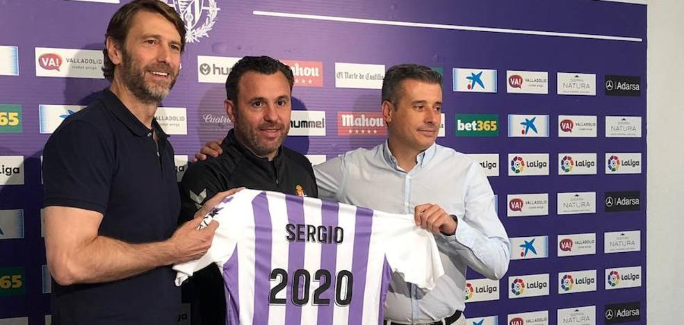 Sergio agradece el «golpe contundente de confianza» tras su renovación con el Real Valladolid