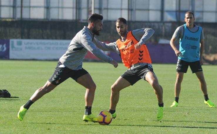 Entrenamiento del Real Valladolid en los Campo Anexos