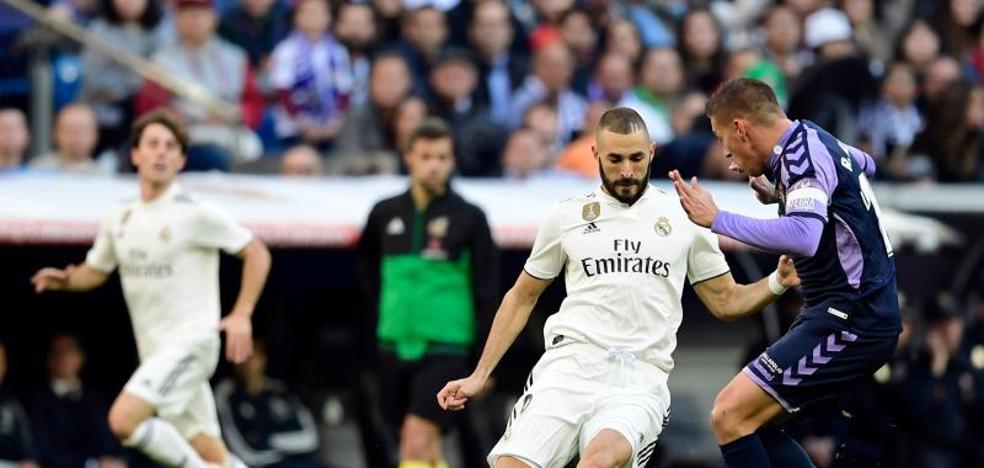 El Real Valladolid cae injustamente en el Bernabéu
