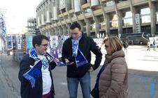 La afición pucelana se hace notar en Madrid
