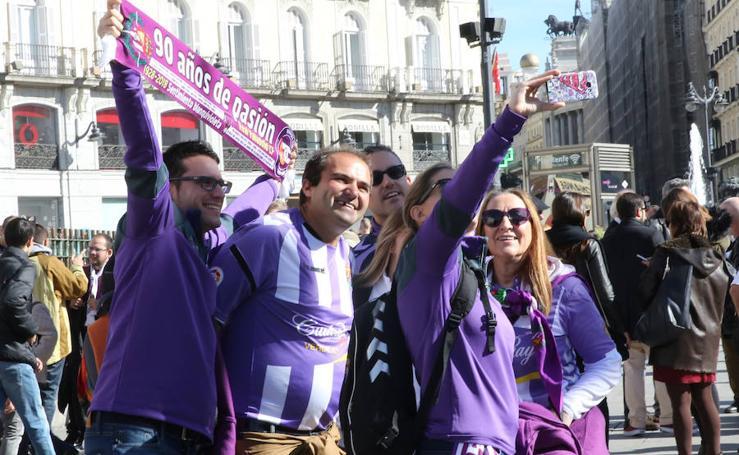 Afición del Real Valladolid en Madrid