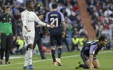 La solidaridad del Real Valladolid solo la rompió un pelotazo de Vinicius