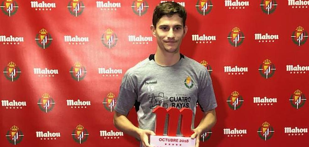 Toni, mejor jugador del Real Valladolid en octubre, se encuentra en su «mejor momento de confianza»