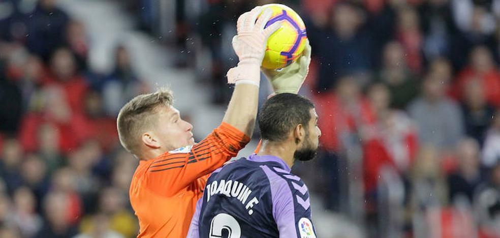 El Real Valladolid tiene en Joaquín a un central de garantías