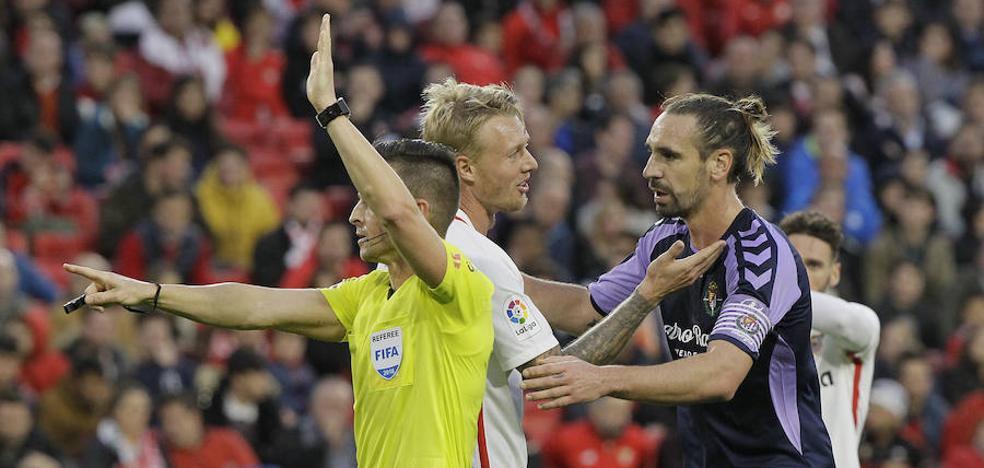 Borja, del Real Valladolid, sobre el VAR: «Las sospechas que tenía se están cumpliendo»