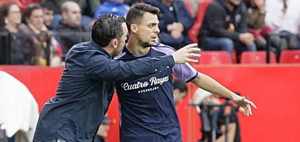 Sergio quiere que el Real Valladolid sea «protagonista» el sábado frente al Leganés