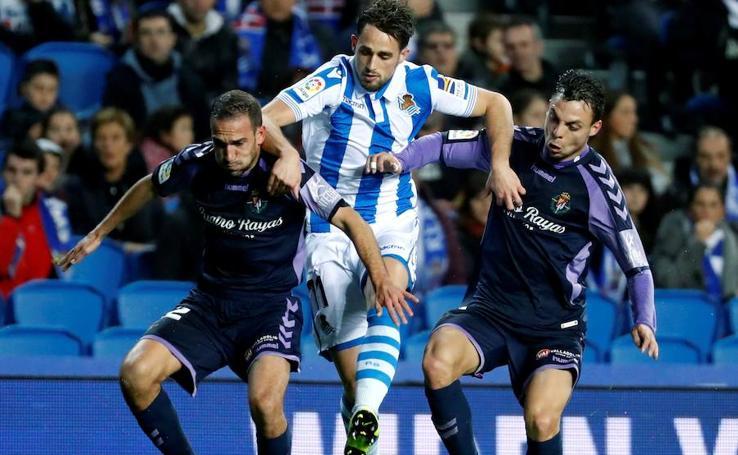 El Real Valladolid vence en Anoeta a la Real Sociedad (1-2)