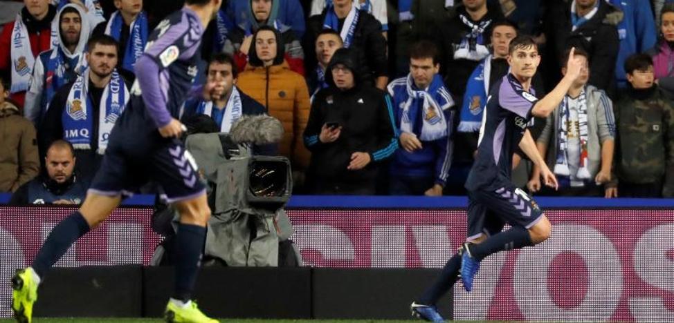 El Real Valladolid asalta Anoeta y rompe cinco partidos sin ganar