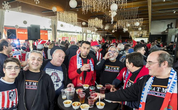 Aficionados del Atlético de Madrid en Valladolid