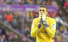La mueca interpretable del portero del Real Valladolid