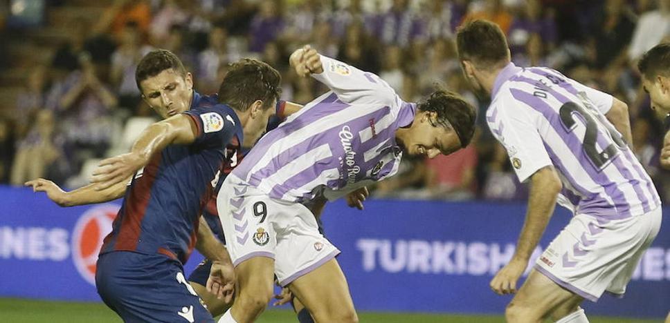 Los delanteros del Real Valladolid y el problemas del gol