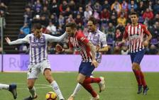El Real Valladolid cae ante el Atlético de forma inmerecida