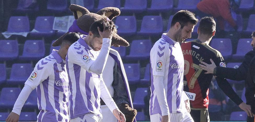 El Real Valladolid encajó al inicio del partido por cuarta vez en este curso