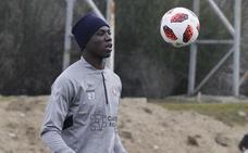 Stiven Plaza completa su primer entrenamiento con el Real Valladolid