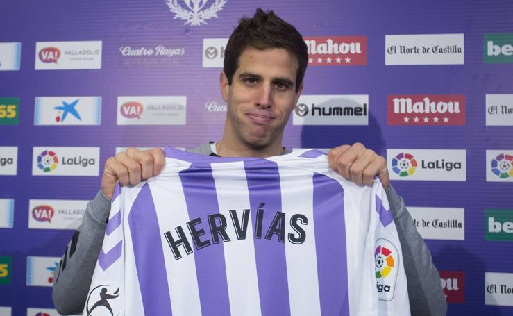 El Real Valladolid presenta a Pablo Hervías