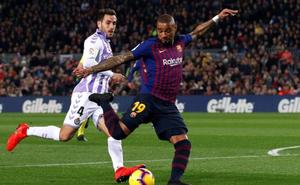 El Valladolid cae por la mínima en el Nou Camp (1-0)