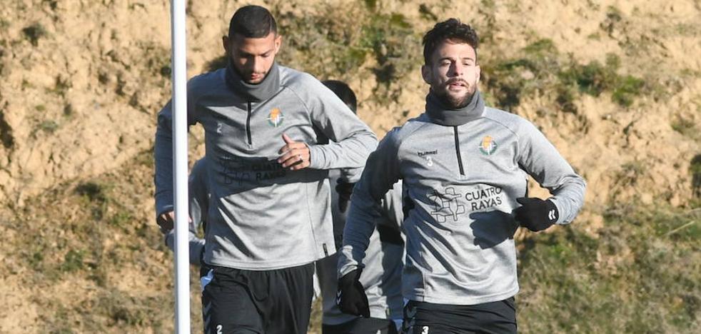 En el Real Valladolid, Alcaraz trabajó en el gimnasio y Hervías ya entrena con normalidad