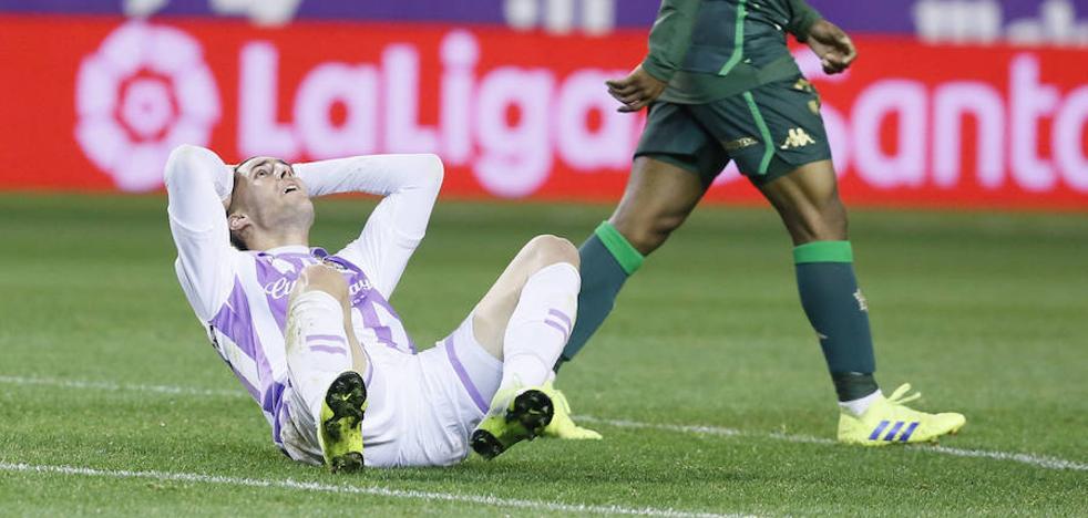 El Real Valladolid es el segundo equipo que menos remata a portería de la liga