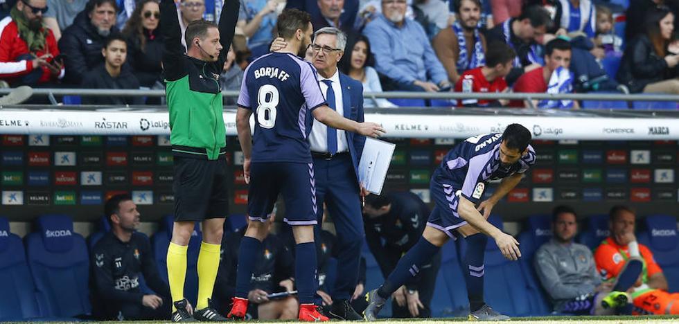 El Real Valladolid pierde a Borja para el partido contra el Real Madrid