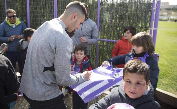 Entrenamiento del Real Valladolid en los campos Anexos