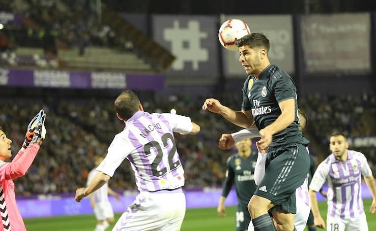 Las imágenes del partido entre el Real Valladolid y el Real Madrid