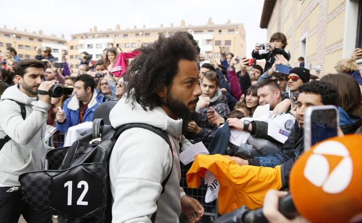 El Real Madrid llega a su hotel de concentración en Valladolid