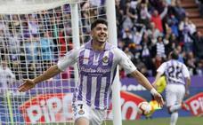 Los goles del Real Valladolid, como los del resto de equipos, se celebran en dos tiempos