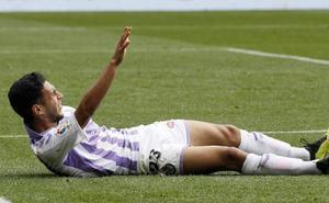 Anuar sufre la rotura de un tendón y no jugará más con el Real Valladolid esta temporada