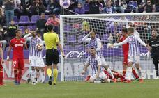El Real Valladolid ha rescatado tantos puntos al final como los que ha perdido