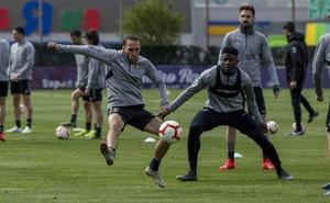 Seis del filial en el primer entrenamiento semanal del Real Valladolid