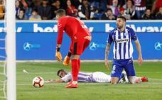 El Real Valladolid rescata un punto de Vitoria tras ir perdiendo 2-0