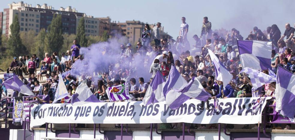 Más de 1.000 aficionados demuestran en los Anexos su apoyo incondicional al Real Valladolid