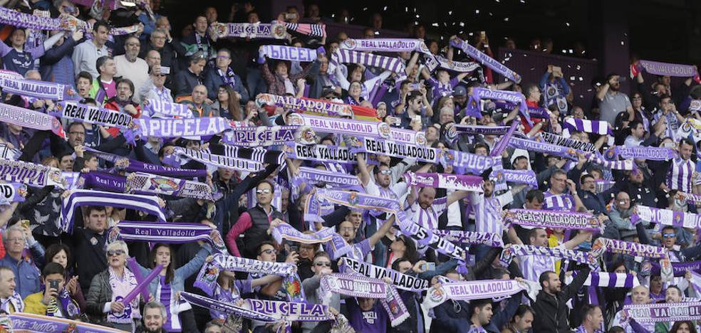 La Federación de Peñas cifra en mil el número de aficionados del Real Valladolid en Vallecas
