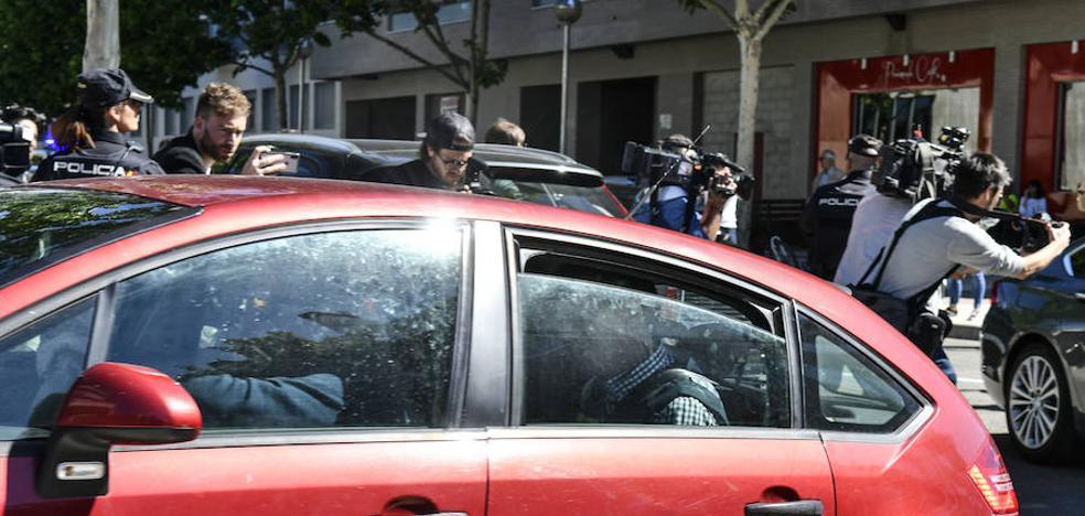 El jugador del Real Valladolid Borja Fernández, en libertad bajo fianza tras declarar ante el juez en Huesca