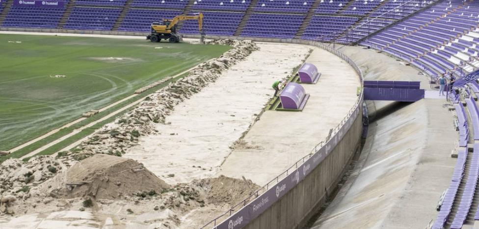 El Real Valladolid no ha solicitado la licencia de obra para eliminar el foso de Zorrilla