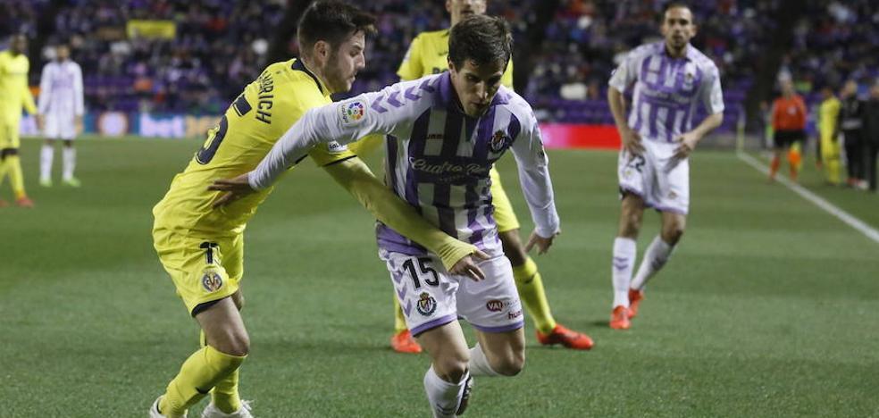 El Real Valladolid busca soluciones para la saturación de jugadores de banda