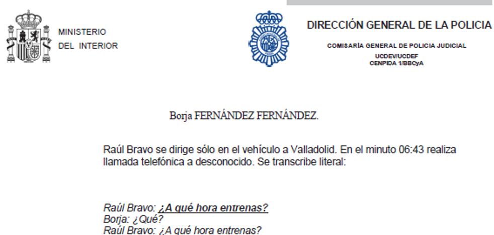 Los indicios contra Borja en la operación Oikos se basan principalmente en escuchas a Aranda