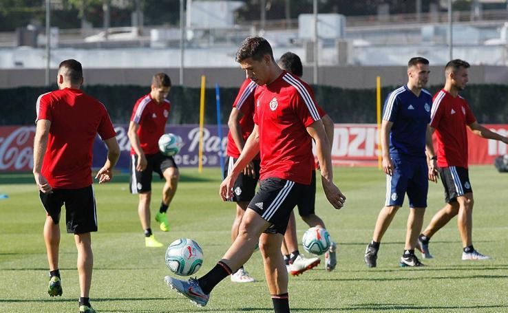 El primer entrenamiento de la pretemporada del Real Valladolid