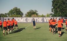 Primer entrenamiento del Real Valladolid en California