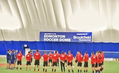 El Real Valladolid ya entrena en Edmonton
