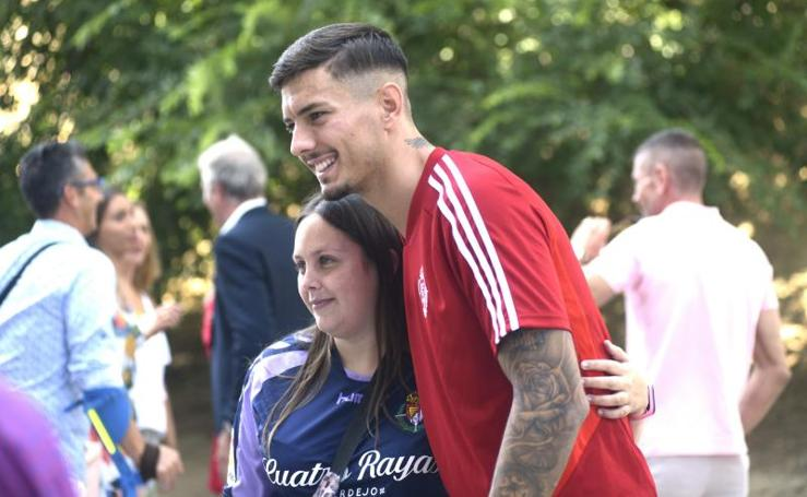 Javi Sánchez entrena con el Real Valladolid
