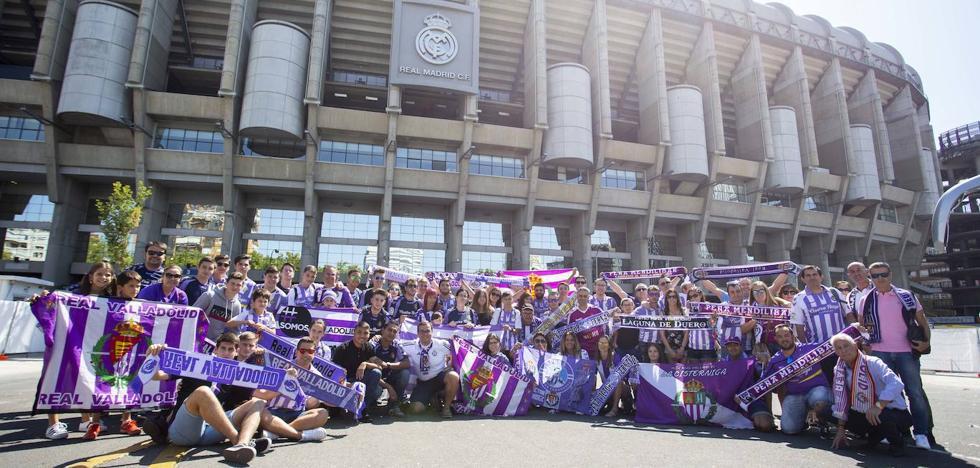 Cientos de aficionados tiñen de blanquivioleta los aledaños del Bernabéu al grito de 'Esta vez sí!'