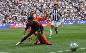 Jordi Masip, el mejor del Real Valladolid ante el Osasuna
