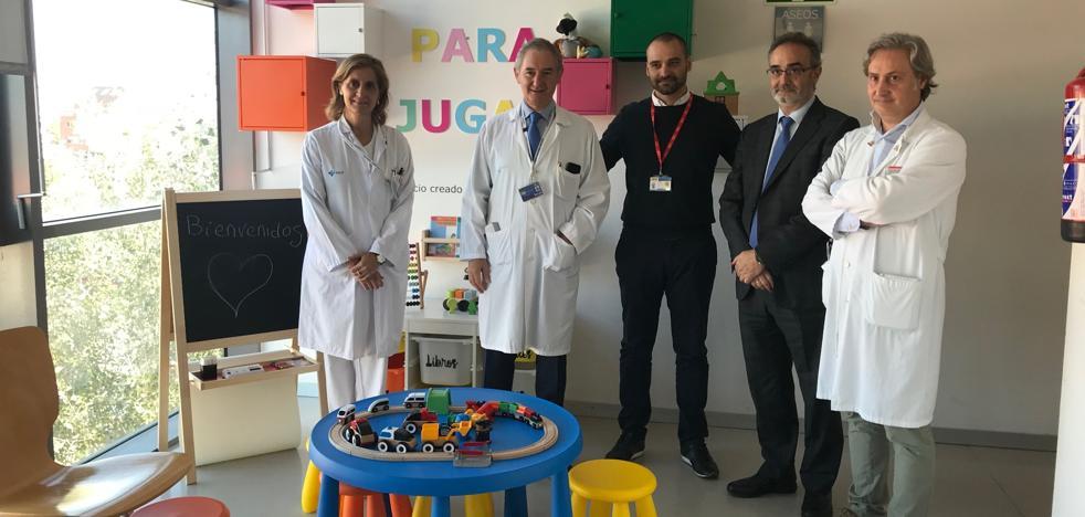 El hospital Río Hortega renueva las salas de espera de pediatría