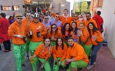 Decenas de peñistas inician con alegría y colorido las fiestas de Arroyo