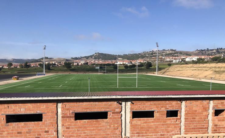 Estado de las obras de los campos de rugby y fútbol de Las Lomas