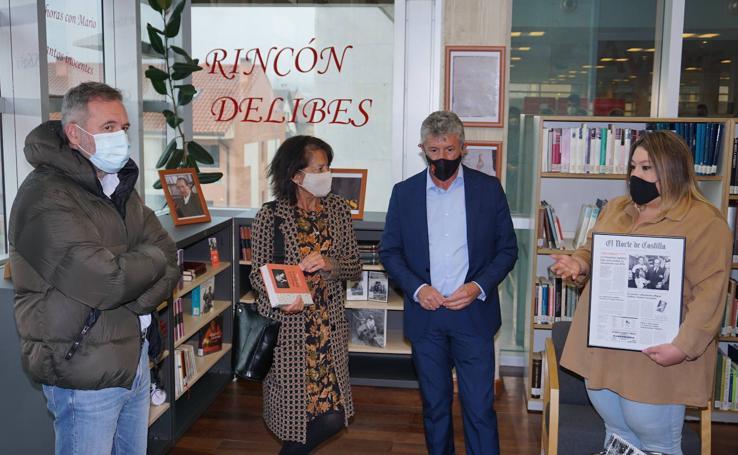 Inauguración Rincón de Delibes en la biblioteca de la Casa de Cultura