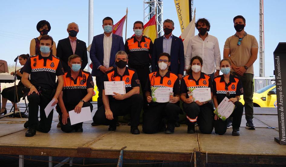Acto de reconomiento público de Arroyo de la Encomienda a sus voluntarios de Protección Civil