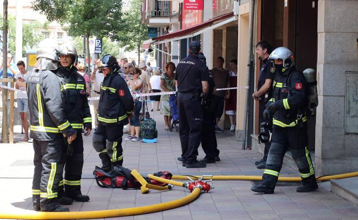 Incendio en una vivienda de Segovia